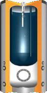 Buffer met ingebouwde boiler met 50mm isolatie