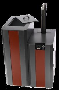 NBE RTB 10 kW met 220 kg pelletreservoir