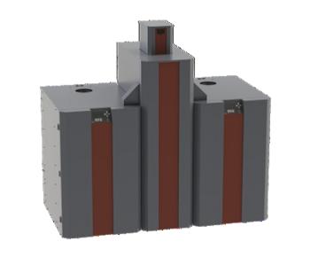 NBE RTB cascade 50 kW pelletreservoir 320 kilo
